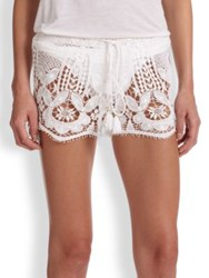 Miguelina Minnie Lace Shorts White
