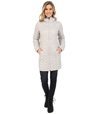 The North Face Thermoball Hooded Parka Ashes Of Rose Grey Women's Coat White