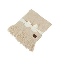 Ugg Luxe Mohair Throw Bone