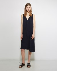 Pas De Calais Asymmetical Hem Dress Navy
