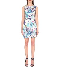 Reiss Juna Printed Dress Multi Blue