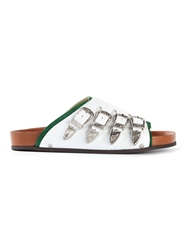 Toga Pulla Flat Buckled Sandals White