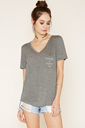Forever 21 Comme Ci Graphic Pocket Tee