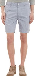 Save Khaki Stripe Chambray Shorts Blue