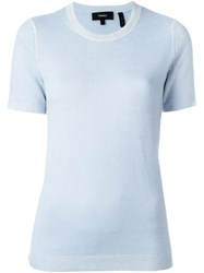 Theory Short Sleeve Knit Top Blue