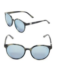 Brian Atwood 52Mm Round Sunglasses Blue