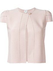 Armani Collezioni Shortsleeved One Button Jacket Pink And Purple