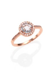 Suzanne Kalan Blue Topaz White Sapphire And 14K Rose Gold Ring