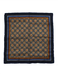 Paul Costelloe Bronze Floral Circles Pocket Square Metallic