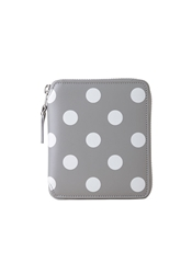Comme Des Garcons Square Zip Wallet Grey Polka Dots