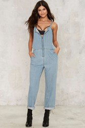 Fulton Denim Jumpsuit Blue