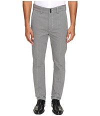Vivienne Westwood Anglomania Classic Houndstooth Chino Black White Men's Casual Pants