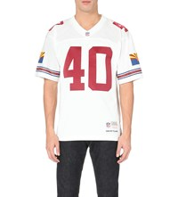 Mitchell And Ness Pat Tillman Mesh Jersey Top White