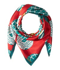Echo Merry Go Round Silk Square Ruby Scarves Red