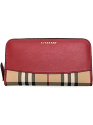 Burberry Horseferry Check Wallet Red