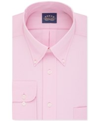 Eagle Men's Classic Fit Stretch Collar Non Iron Solid Dress Shirt Blush