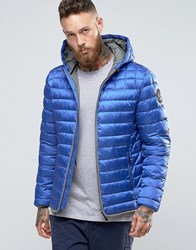 Napapijri Quilted Hooded Jacket Zip Front Atomic Blue