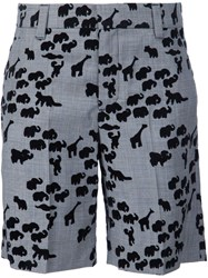 Marc Jacobs Animal Flocked Shorts Black
