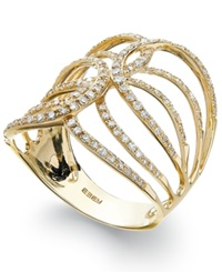 Effy Collection D'oro By Effy Diamond Swirl Ring In 14K Gold 1 2 Ct. T.W.