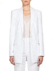 Givenchy Floral Jacquard Jacket White