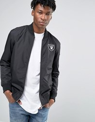 New Era Raiders Bomber Jacket Black