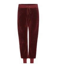 Chloe Velvet Track Pants Red