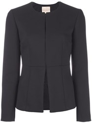 Erika Cavallini Collarless Fitted Jacket Black