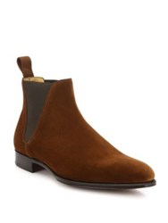 Edward Green Newmarket Suede Chelsea Boots Snuff