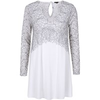 River Island Womens White Lace Tunic
