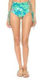Mara Hoffman Leaf Lace Up Bottoms White Multi
