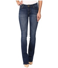 Kut From The Kloth Natalie Kurvy Bootcut Jeans In Lift W Dark Stone Base Wash Lift Dark Stone Base Wash Women's Jeans Blue