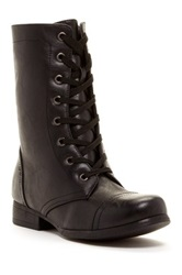 Godiva Combat Lace Up Boot Black