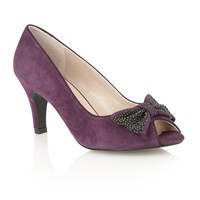Lotus Bernadette Court Shoes Purple