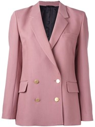 Paul Smith Double Breasted Blazer Pink Purple