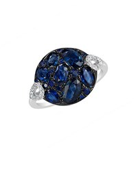 Marco Moore Sapphire Diamond And 14K White Gold Ring