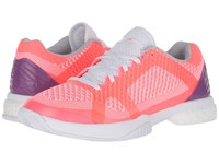 Adidas Asmc Barricade Boost Flash Red White Pop Purple Women's Tennis Shoes Pink