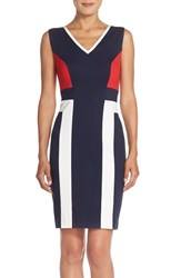 Women's Adrianna Papell Colorblock Ponte Sheath Dress
