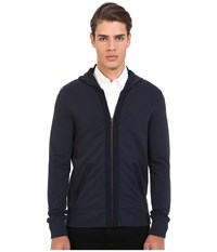 Michael Kors Nylon Trim Hoodie Midnight Men's Sweatshirt Navy