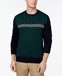 Weatherproof Snowflake Sweater Dark Navy