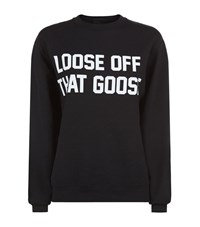 Private Party Loose Off That Goose Sweatshirt Female Black