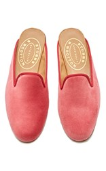 Stubbs And Wootton Rose Mule Pink