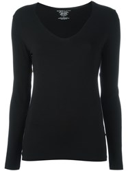 Majestic Filatures V Neck Jumper Black