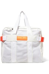 Adidas By Stella Mccartney Paneled Canvas And Faux Leather Tennis Bag White