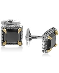 Effy Men's Onyx 14 1 2 X 13Mm Claw Cuff Links In Sterling Silver And 18K Gold Plate Black