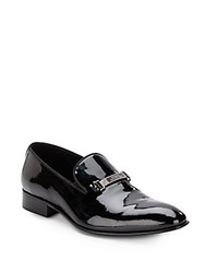 Versace Patent Leather Loafers Black