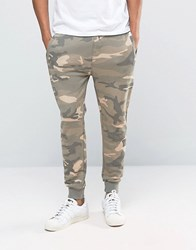 Pull And Bear Pullandbear Joggers In Sand Camo Beige