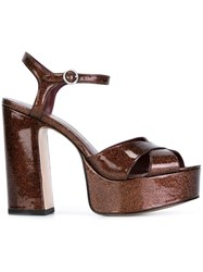 Marc Jacobs 'Debbie' Sandals Brown
