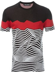 Neil Barrett Zig Zag Intarsia Sweater Black