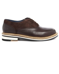 Opening Ceremony Antoine Dual Material Brown Brogue Shoes