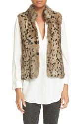 Joie Women's 'Merwyn' Genuine Rabbit Fur Vest Leopard
